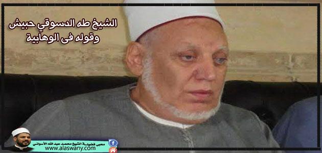 الشيخ طه الدسوقي حبيش وقوله فى الوهابية